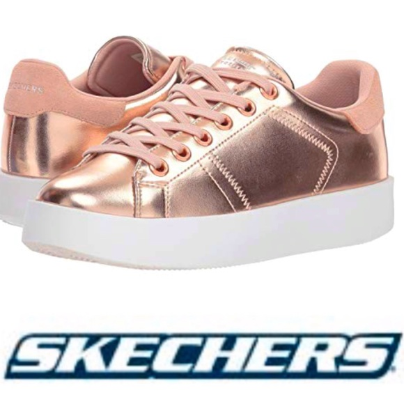 stylish design running shoes hot new products NIB SKETCHERS Traffic Shoetopia Rose Gold SNEAKERS Boutique